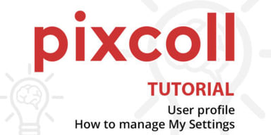 User profile in Pixcoll – How to manage My Settings
