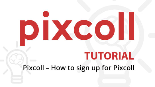 Pixcoll - How to sign up for Pixcoll